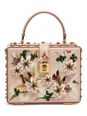 Dolce & Gabbana dolce box lily print grained leather bag