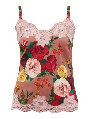 Dolce & Gabbana floral-print silk-crepe camisole