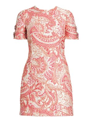 Dolce & Gabbana jacquard short sleeve mini dress