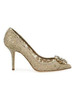 Dolce & Gabbana Jeweled Lace Pumps
