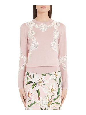 Dolce & Gabbana lace inset silk sweater