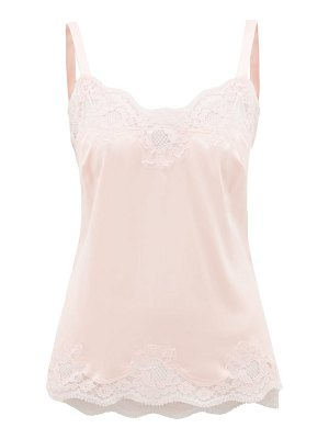 Dolce & Gabbana lace-trim silk-blend cami top
