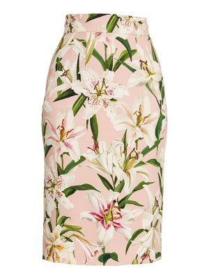Dolce & Gabbana lily printed pencil skirt