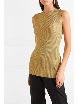 Dolce & Gabbana metallic ribbed stretch-knit tank