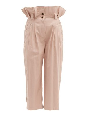 Dolce & Gabbana paperbag waist cotton blend trousers