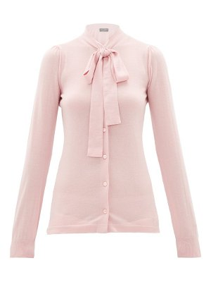 Dolce & Gabbana pussy-bow cashmere-blend cardigan