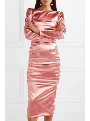 Dolce & Gabbana ruched satin midi dress