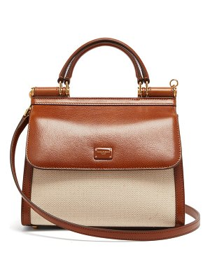 Dolce & Gabbana sicily 58 small leather and canvas bag