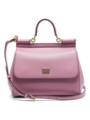 Dolce & Gabbana sicily medium grained-leather bag