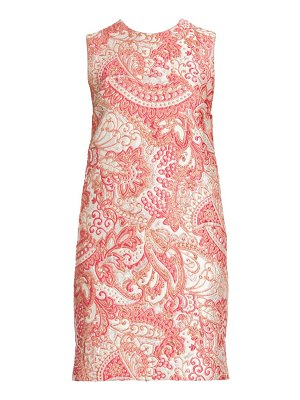Dolce & Gabbana sleeveless jacquard shift dress