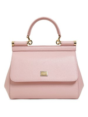 Dolce & Gabbana Small sicily dauphine leather bag