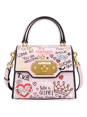 Dolce & Gabbana Welcome Graffiti Small Shoulder Bag