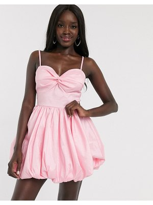 Dolly & Delicious cut out micro mini bubble hem prom dress in pink
