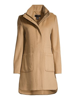 Donna Karan cashmere & wool-blend hooded peacoat