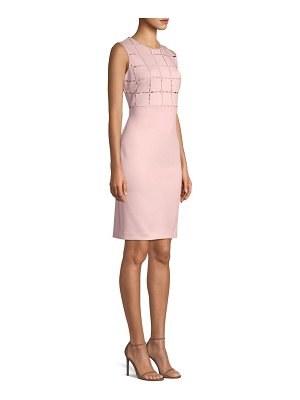 Donna Karan laser cut bodice scuba sheath