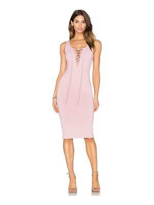 DONNA MIZANI Lace Up Midi Dress