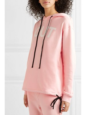 DOUBLE RAINBOUU printed cotton-fleece hoodie