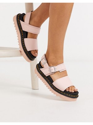 Dr Martens voss flat sandals in pink leather