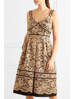 DRAPER JAMES metallic corded lace midi dress