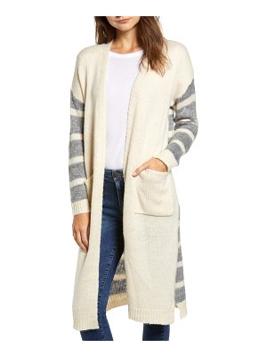 DREAMERS BY DEBUT stripe knit cardigan