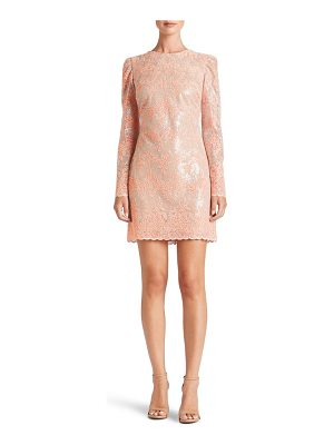 DRESS THE POPULATION Aubry Sequin Embellished Shift Dress