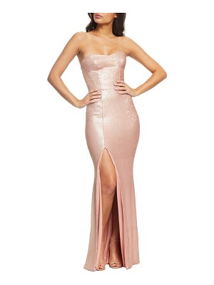 Dress the Population ellen strapless sequin evening dress