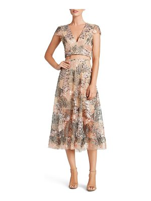 Dress the Population juliana embroidered two-piece dress