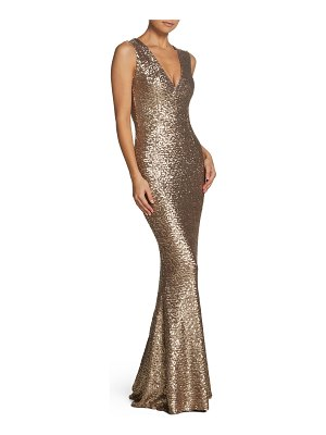 Dress the Population karina plunge mermaid gown