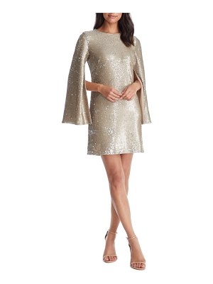 Dress the Population liza cape sleeve sequin minidress