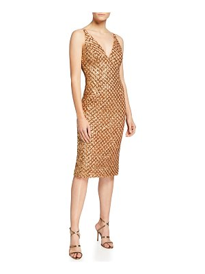 Dress the Population Luna Sequin V-Neck Bodycon Dress