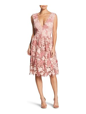 Dress the Population rita plunge neck lace dress