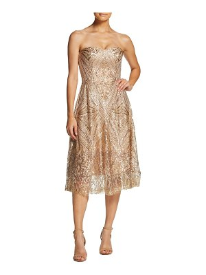 Dress the Population sarah sequin strapless fit & flare dress