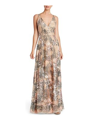 Dress the Population sidney embroidered fit & flare gown