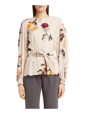 Dries Van Noten cizan shadow rose blouse