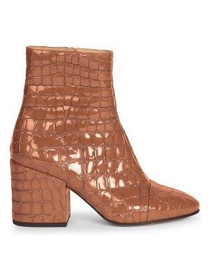Dries Van Noten crocodile print leather bootie