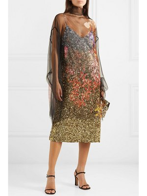 Dries Van Noten daria dégradé sequined silk-crepe midi dress