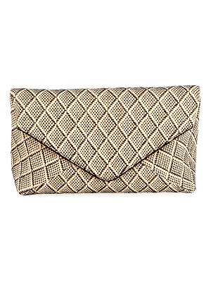 Dries Van Noten Patterned Envelope Clutch Bag