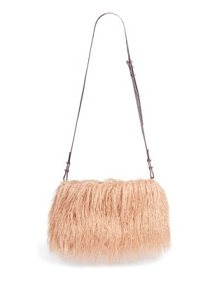 Dries Van Noten faux shearling crossbody bag