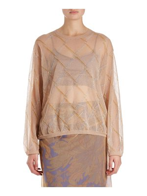 Dries Van Noten Javier Argyle Voile Top