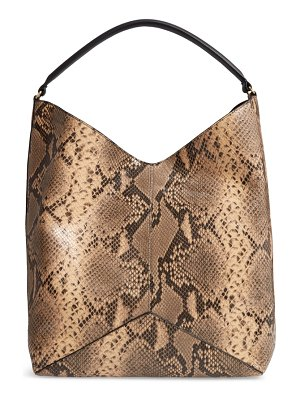 Dries Van Noten leather hobo bag