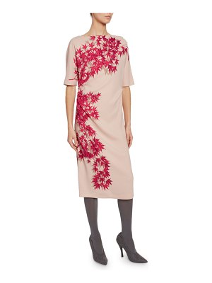 Dries Van Noten Ora Floral-Print 1/2-Sleeve Shift Dress