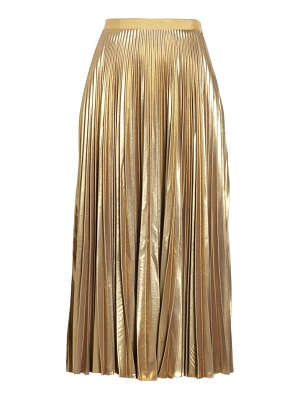 Dries Van Noten pleated metallic skirt