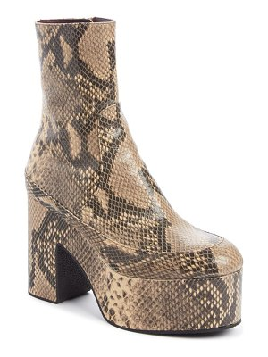 Dries Van Noten snake embossed platform boot