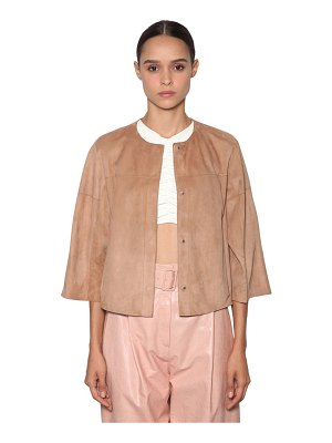 DROME Short reversible leather jacket