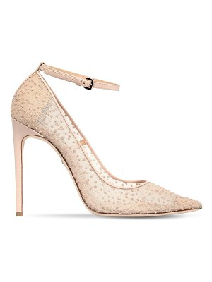 Dsquared2 110mm glittered mesh ankle strap pumps