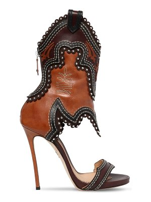 Dsquared2 120mm rodeo girl leather sandals