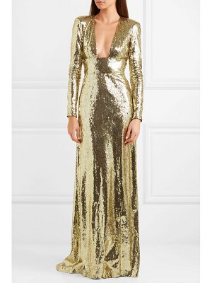Dundas open-back sequined tulle gown