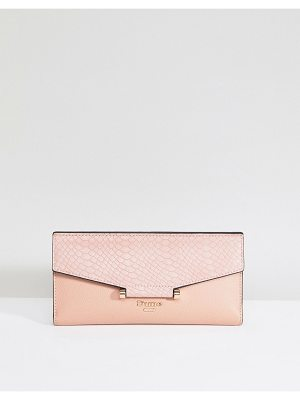 DUNE Blush Purse With Faux Croc Contrast