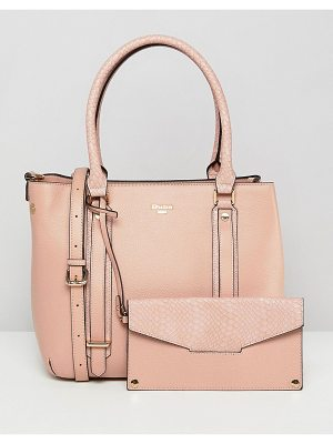 DUNE Dylier Blush Tote Bag With Detachable Front Purse