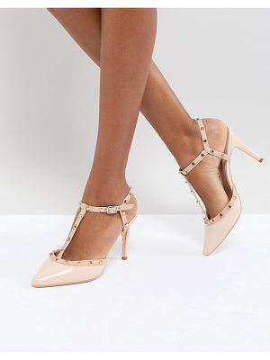 DUNE London Catelyn Leather Studded Heeled Shoes